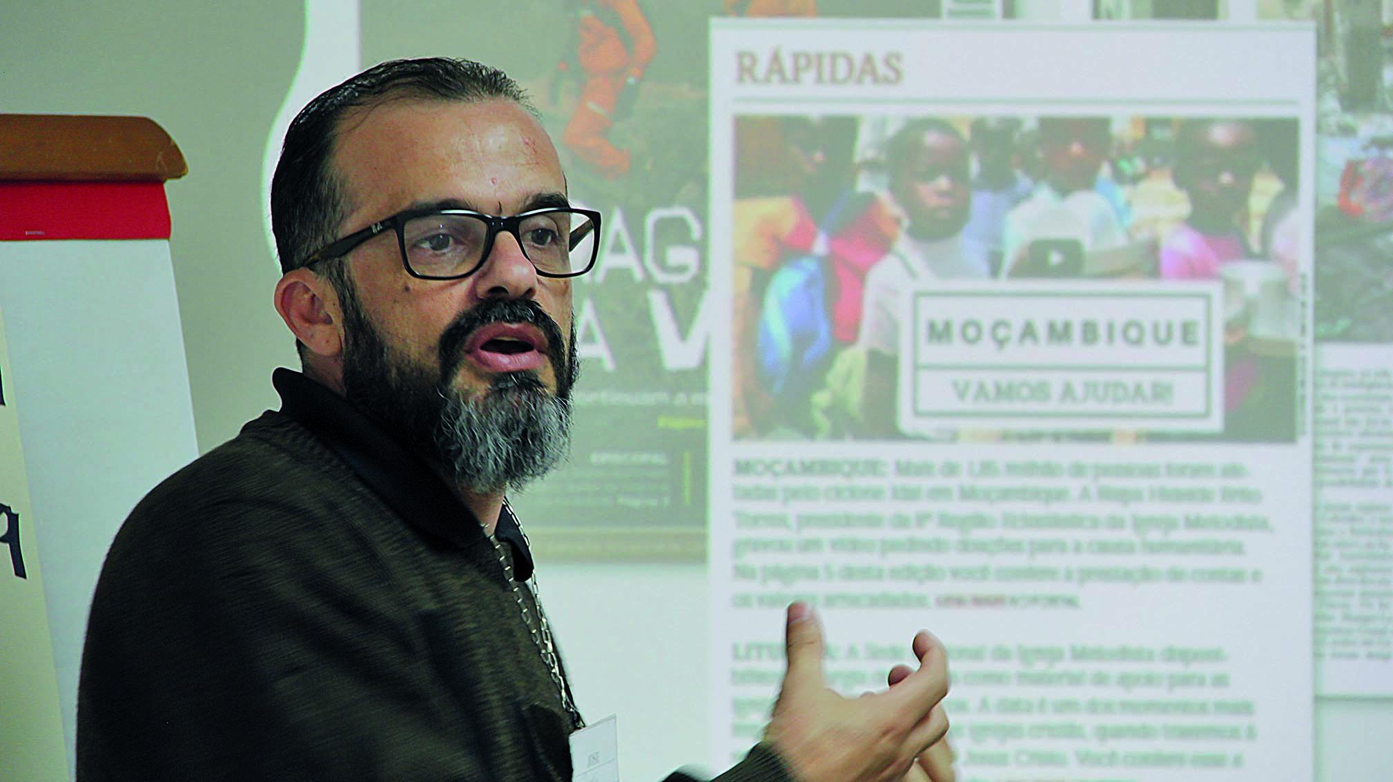 Editor-chefe do Expositor Cristão, José Geraldo Magalhães, explicou sobre as coberturas em caso de catástrofes e a estrutura de comunicação da área nacional.