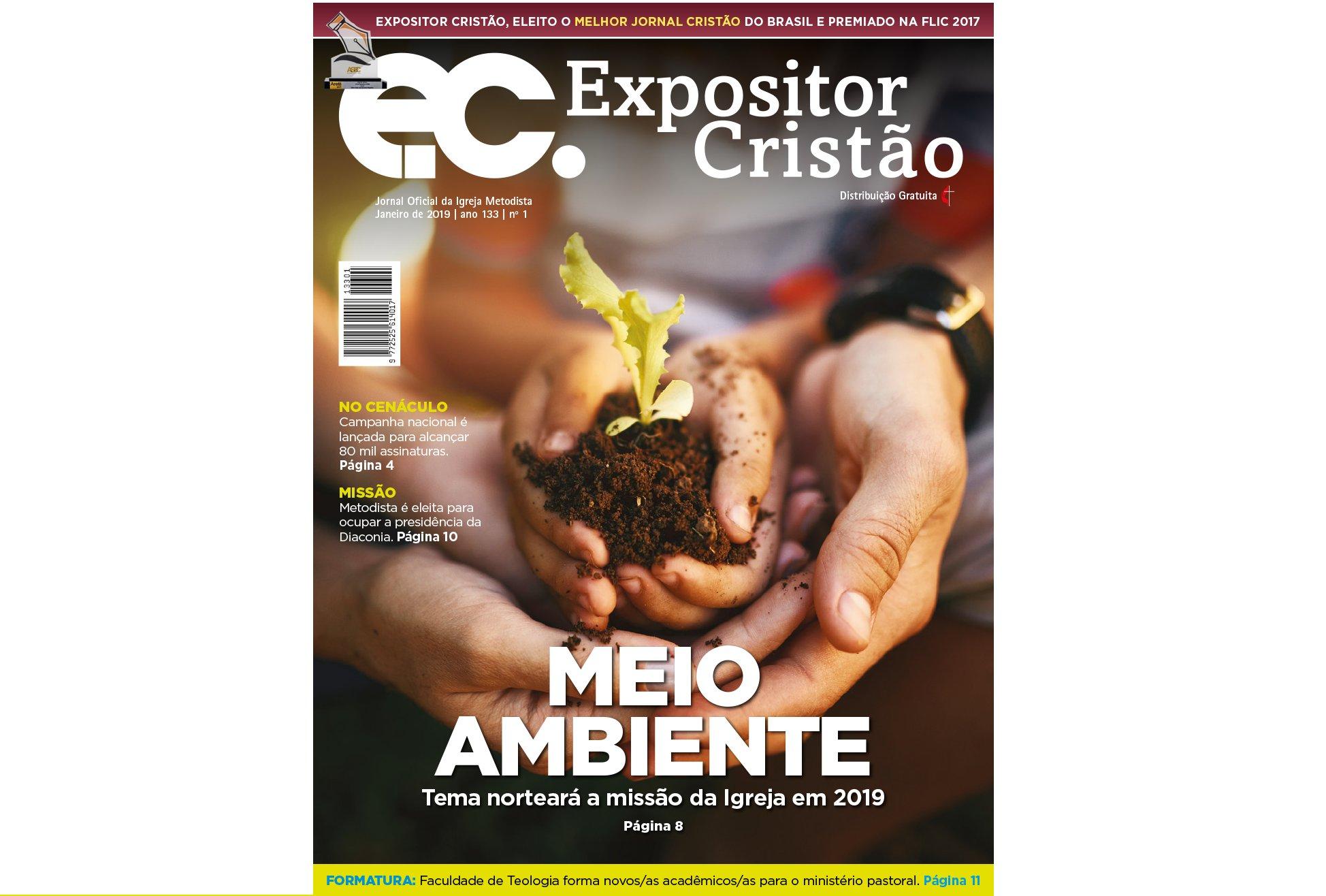EC: Meio Ambiente é o tema que norteará a Igreja Metodista em 2019