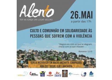 Alento: Igreja Metodista em Bacia de Anchieta (RJ) promove culto voltado para vítimas de violência