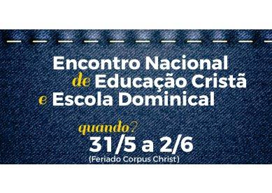Ingressos à venda para o Encontro Nacional de Escola Dominical