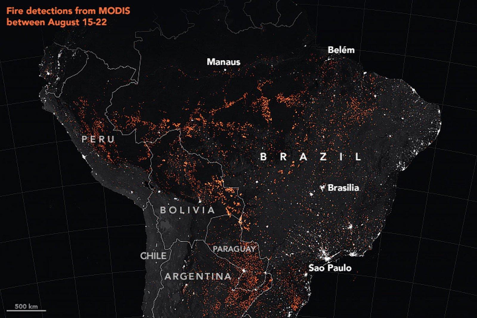 Amazônia: Nasa diz que o mês de agosto teve o maior índice de queimadas desde 2010