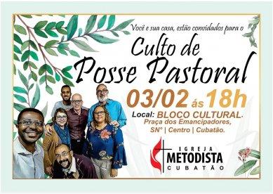 Convite: Culto de Posse na Igreja Metodista de Cubatão