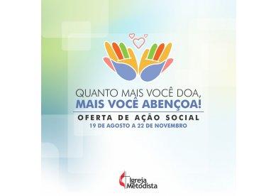 Oferta para Ação Social 2018 recebe doações por meio de site e aplicativo