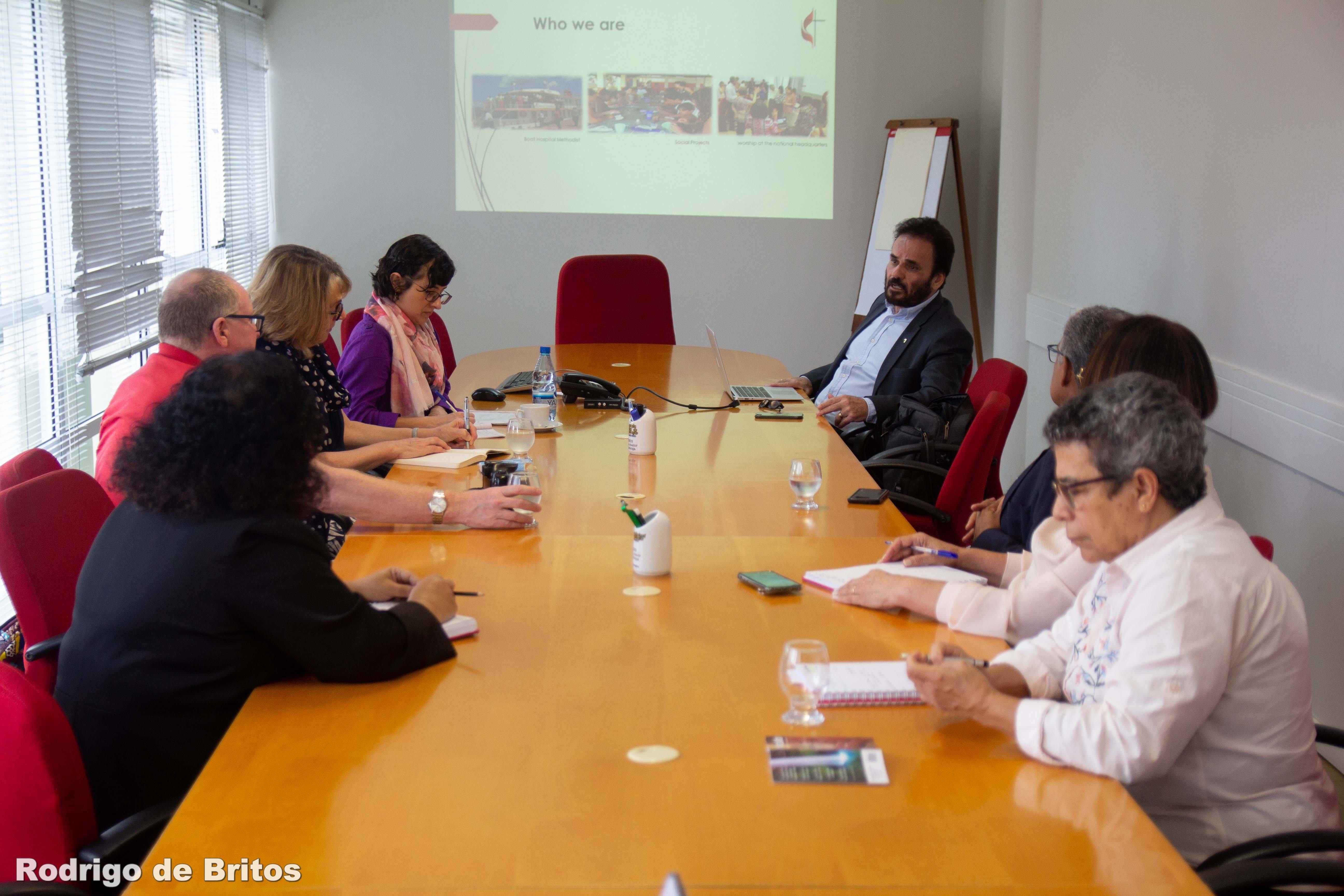 Representantes da Igreja Metodista Grã-Bretanha visitam o Brasil