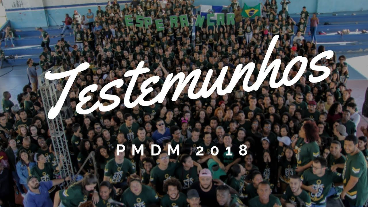 Assista aos testemunhos de voluntários/as do PMDM 2018