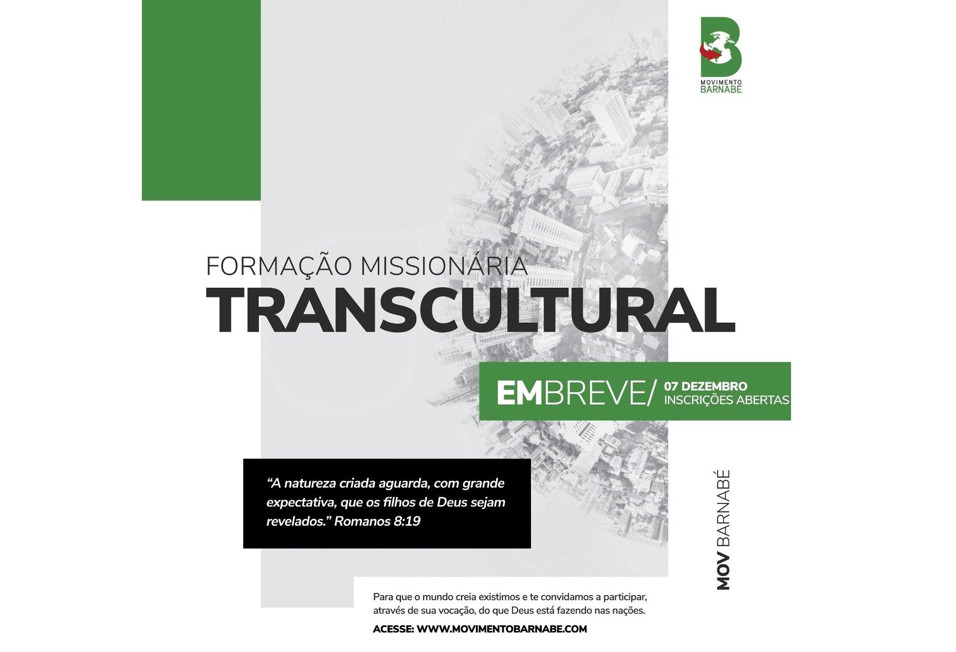 Movimento Barnabé abrirá inscrições para Formação Missionária Transcultural