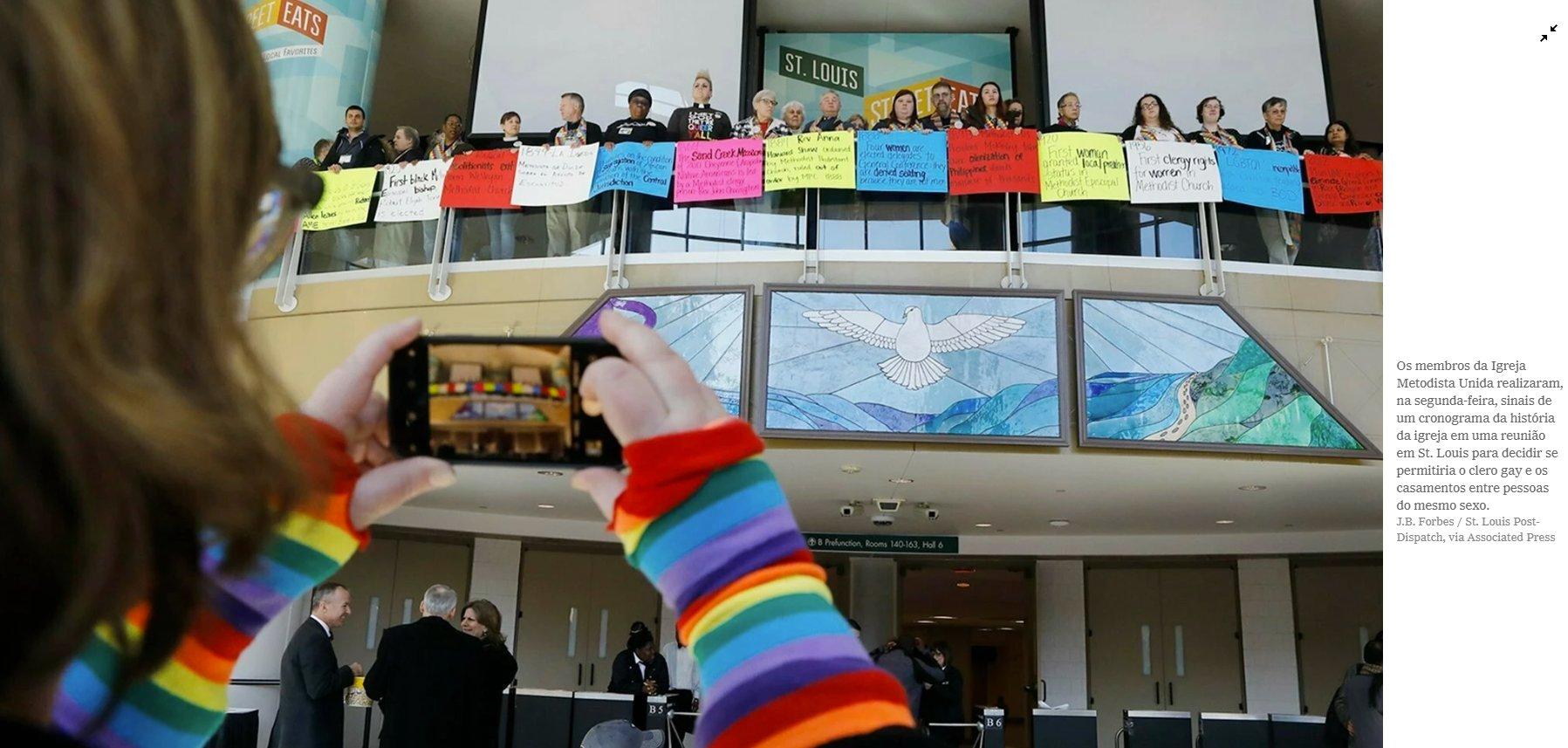 Igreja Metodista Unida não aprova casamento entre pessoas de mesmo sexo