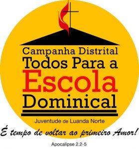 Logotipo da campanha distrital Todos Para a Escola Dominical