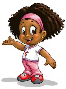 Ilustração da Rebeca, personagem do Aventureiros em missão