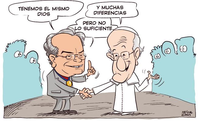 Presidente do Concílio Mundial Metodista, bispo Lockmann, visita o Papa em Roma.