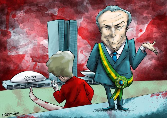 Temer assume como presidente interino após afastamento de Dilma Roussef.